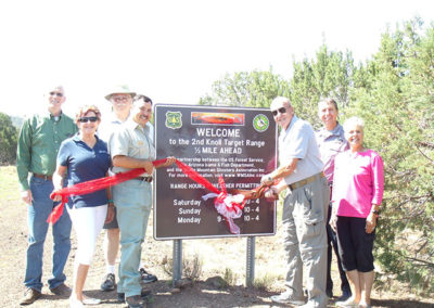 Pinetop-Lakeside Chamber Ribbon Cutting for Second Knoll Target Range