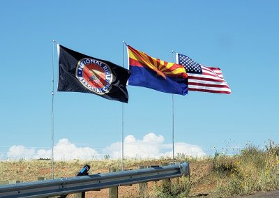 Flags at Second Knoll Target Range