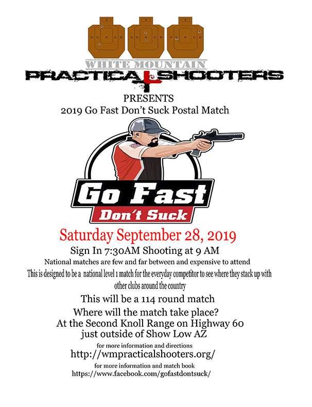 2019 Go Fast Don't Suck Postal Match @ Second Knoll Target Range